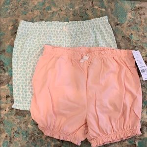 Set of 2 carters bubble shorts